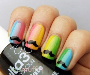 nails and moustache image