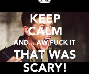 dean winchester, Jensen Ackles, and scary image