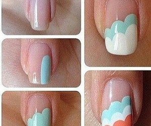clouds, nails, and fashion image