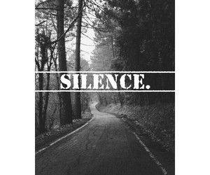 alone, black, and silence image