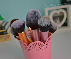Brushes, girly, and beauty image