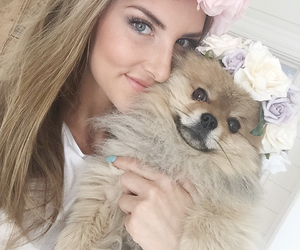 blonde, crown, and dog image