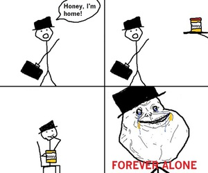 forever alone, honey, and funny image
