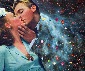 Collage, galaxy, and collage art image