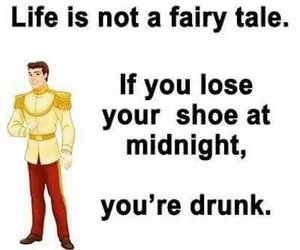 drunk, funny, and fairy tale image