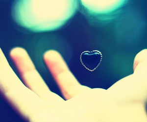heart, hand, and blue image
