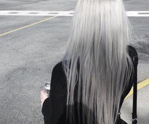 hair, grunge, and grey image