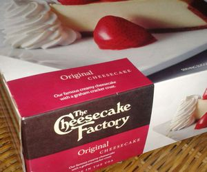 cake, cheesecake, and the cheesecake factory image