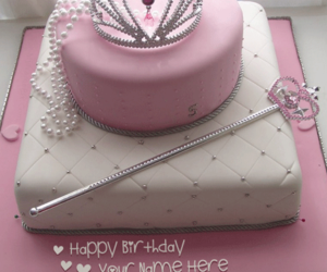 write name on cakes, name cakes, and princess cake image