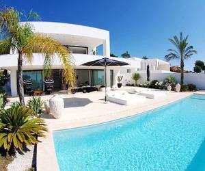 summer, luxury, and pool image