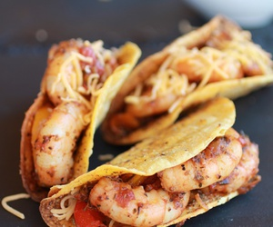 food, tacos, and shrimp image
