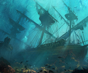 concept art, scenery, and ac black flag image