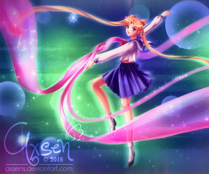 sailor moon and usagi tsukino image