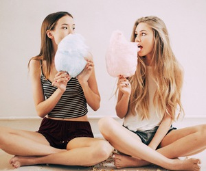 best friends, cute, and cotton candy image