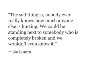 quotes and sad image