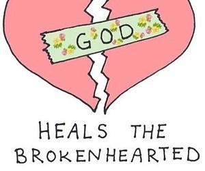 broken hearted, god, and heals image