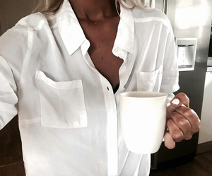 fashion, white, and coffee image