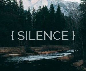 silence, nature, and wood image