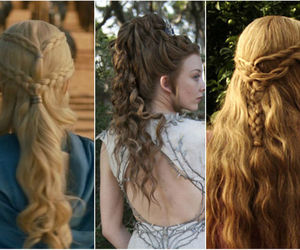hair, women, and game of thrones image