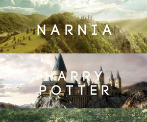 narnia, harry potter, and book image
