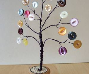 buttons, tree, and diy image