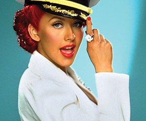 christina aguilera, white, and sailor image