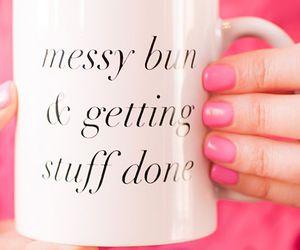 bun, coffee, and pink image