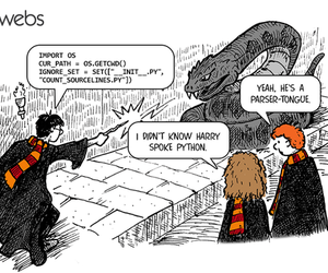 harry potter, hermione, and programming image