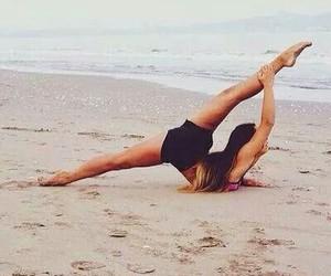 beach, girl, and dance image