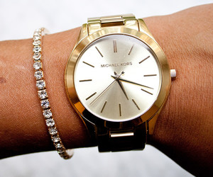 clock, fasion, and gold image