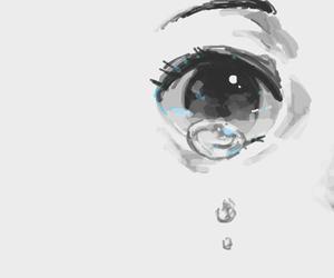 eye, anime, and cry image