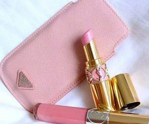 Prada, beauty, and lipstick image