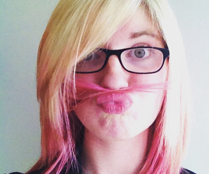 color, mustache, and pink image