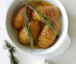 garlic, potato, and rosemary image
