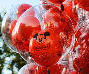 balloons, disney, and disneyland image