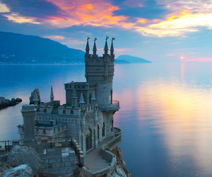 castle, beautiful, and sea image