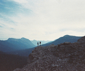 mountains, grunge, and nature image