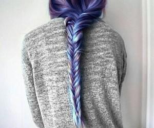 art, blue, and braid image