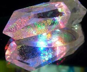crystal, rainbow, and quartz image