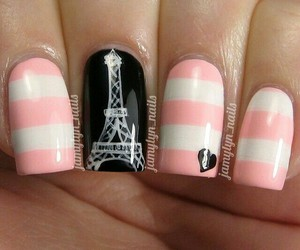 nails, paris, and nailart image