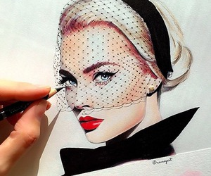 art, drawing, and chanel image