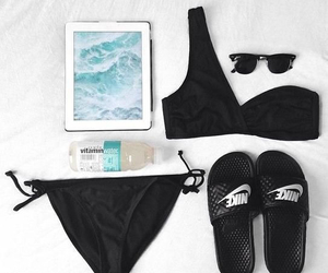 beach, bikini, and essentials image