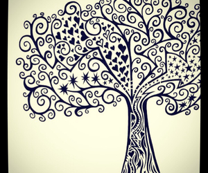 drawing, tree, and nature image