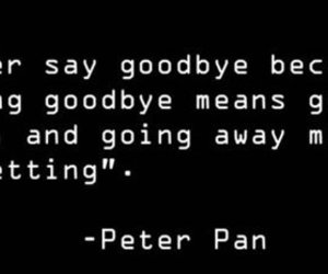 peter pan, goodbye, and quote image