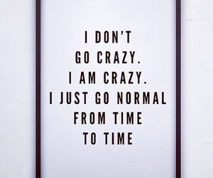 crazy, quotes, and normal image