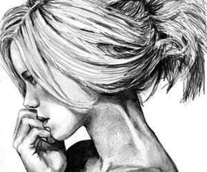 deviant art, drawing, and girl image