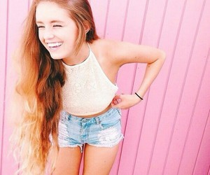 girl, pink, and smile image