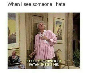 funny, hate, and satan image