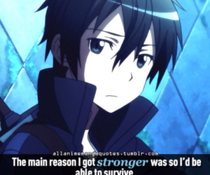 kirito, sword art online, and quotes image