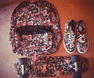 backpack, flowers, and shoes image
